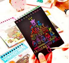 DIY Scratch Notebook Scratch-Off Rainbow Drawing Educational Toys Kids Children