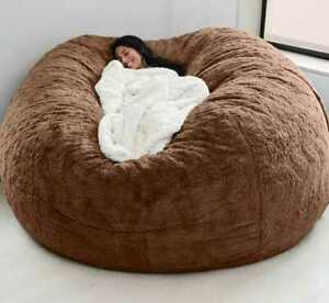 7 foot Lazy Bean Bag chair with washable big size sofa & giant suede