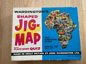Waddingtons Shaped Jig-Map Design 422 Africa Jigsaw Puzzle