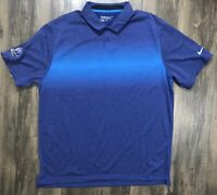 Blue Nike Golf Tour Performance Short Sleeve Polo Men's Size XL Dri Fit EUC