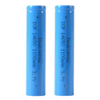 2pcs 3.7V 1100mAh 14650 Rechargeable Li-ion Battery Vape Battery Flat Top BC873