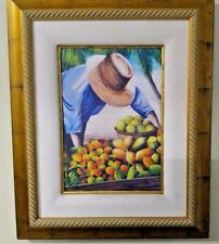 Painting of Fruit Stand on the Beach by Dominic 2003