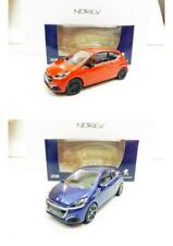Lot de 2 Peugeot 208 3 Portes Mi-Vie 2015 (Bleu, Orange) 1/64 NOREV NEUF