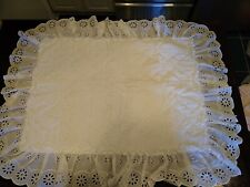 Vintage White Eyelet Pillow Shams