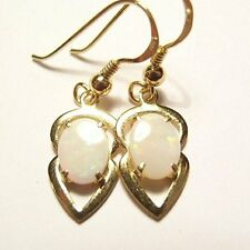 Sterling silver .925,Gold plated Solid opal earrings #497