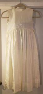 Strasburg Girls Size 14 Bone/Ivory/Light Yellow? Embroidered Dress