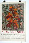 Adam Saulnier Affiche expo Lithographie Mourlot 1962