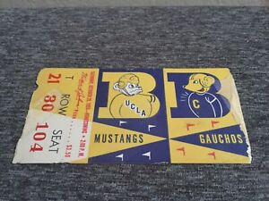 UCLA VS CAL TICKET STUB 1955