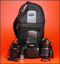 Canon EOS 1300D DSLR CÁMARA + EF-S 18-55mm Zoom Lente Kit-IS II sólo 710 disparos