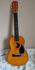 Vintage Harmony H0201 Acoustic Light Brown Guitar Good Condition.