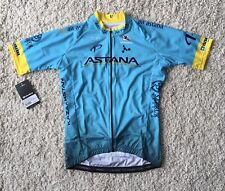"New Giordana ASTANA Full Zip Replica Team Jersey Size SMALL 36"" Chest Ref:A12"
