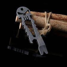 Skull Bottle Opener Keychain Outdoor Survival Self Defense Pocket EDC Multi Tool