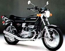 SUZUKI GT550A 1976 MODEL TANK AND SIDE PANELS FULL PAINTWORK DECAL KIT