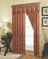 Embossed Rod Pocket Window Curtain Panel and Valance, 81027