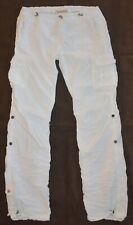 TRUE RELIGION brand jean CARGO PANTS capri WHITE Size 28 SUPER CUTE euc