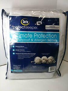 Serta Ultimate Protection Waterproof Mattress Protector Twin White