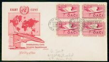 United Nations 1955 Block Artmaster Cachet First Day Cover wwi4399