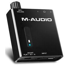 M-Audio Bass Traveler Portable Powered Dual Output Headphone Amplifier