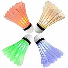Arespark LED Badminton Shuttlecock, Dark Night Colorful Goose Feather Glow Light