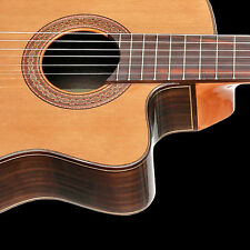 Teton STC155CENT Acoustic Electric Classical Guitar & H/S Case Solid Cedar Top