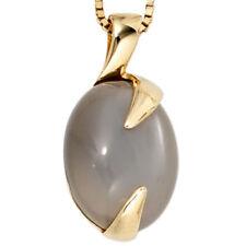 Unbehandelte Echtschmuck-Halsketten & -Anhänger mit Mondstein für Damen