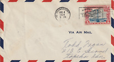 US 1928 FIRST DAY 5 CENT RATE & FIRST FLIGHT COVER YOUNGSTOWN TO KANSAS CITY