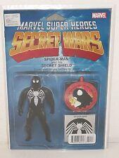 SECRET WARS #1 - Action Figure Variant - BLACK SUIT SPIDER-MAN - Hickman - MCU