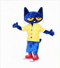 【TOP SALE】Pete The Cat  Mascot Costumes Character Party Dress Animal Parade Suit