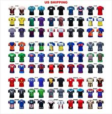 US MARVEL DC AVENGERS DRAGON BALL COSPLAY GYM COMPRESSION SHORT SLEEVE T-SHIRT