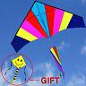 NEW 1.8m 5.9ft Rainbow Triangle Delta Kite Outdoor Fun Sports single line