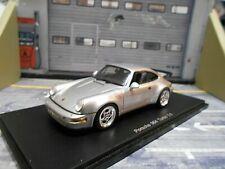 Porsche 911 964 turbo 3.6 plata Silver rar resin Spark 1:43