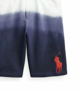 $49 Polo Ralph Lauren Big Boys Big Pony Dip-Dyed Ombre Terry Shorts M (10-12)