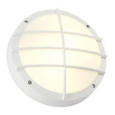 Intalite exterior IP44 BULAN GRID wall and ceiling light round white E27 2x 25W