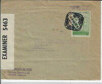Portugal 1941 censor ed cvr Lisbon to Toledo OH. Sc #590 single use (s274.