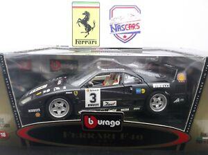 1:18 Ferrari F40 compétition #3 1992 noire Bburago transfo