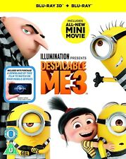 DESPICABLE ME 3 - 3D + 2D Blu-Ray BRAND NEW Free Shipping