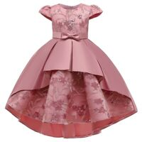 Girl's Embroidered Flower Princess Dress Party Evening Gown Kids Dress Xmas Gift