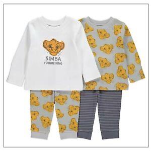 Disney Baby Boys The Lion King Simba Character Pyjama 2 Pack Set 12-18 Mths BNWT