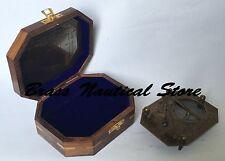 """Antique Pendulum Nautical Brass Sundial Compass Premium Quality Cox London 5"""""""