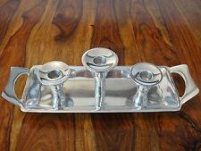 Kerzentablett Kerzenleuchter 3 Kerzen Gesteck Kerzenhalter Kerzenständer Silber