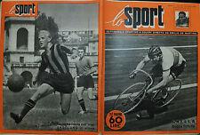 LO SPORT N°16/ 23 AGO.1951- BEVILACQUA il grande escluso- GHELLA- SKOGLUND/INTER