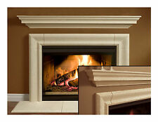 Fireplace Mantel (mantle) Surround Simplicity Design Cast Stone non-combustible