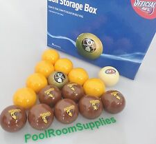 AFL HAWTHORN HAWKS Pool Balls FREE Post Aussie Rules Team Aramith 16 Ball Set