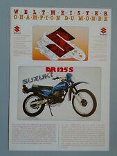 Suzuki 125 ccm Modellprogramm 1982 Schweiz