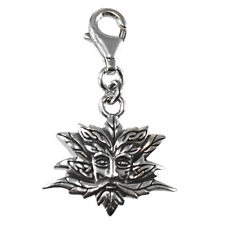 Sterling Silver Green Man Clip Charm Wiccan Pendant Wiccan Pagan Greenman
