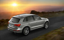 "GREY AUDI Q5 A1 CANVAS PRINT POSTER FRAMED 33.1"" x 21.4"""