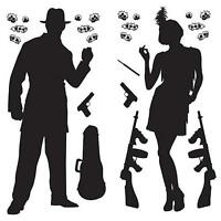Gangster Prop Cutouts 1920's party decor with Gangster Prop Cutouts. sale price