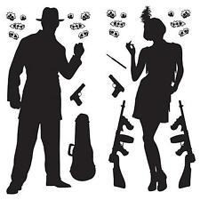 1920's party decor with Gangster Prop Cutouts. party decoration