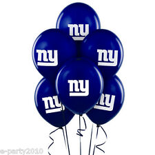 NFL NEW YORK GIANTS 11in LATEX BALLOONS (6) ~ Sports Birthday Party Supplies