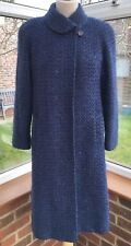 Eastex Vintage Wool Tweed Cobalt Blue Coat , Size 10